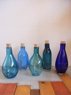 beautiful blue bottles!
